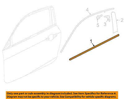 New Genuine Honda Door Molding Assembly OEM 72410S03003