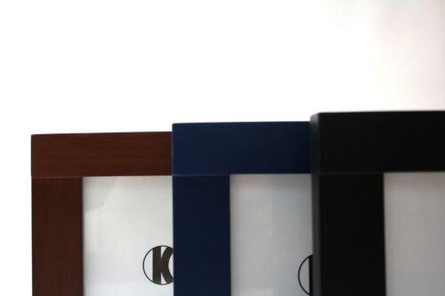 Cadre Photo 13x18cm Cadre Photo Bleu//Noir//Noyer Bois Photos des deux côtés