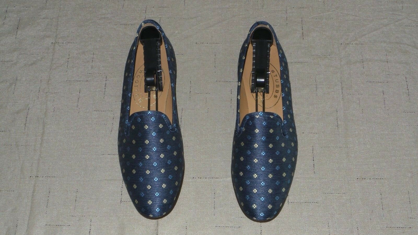 NEW  Women's  450 Stubbs and Wootton bluee Fabric  PEDALS  Slippers Loafers shoes