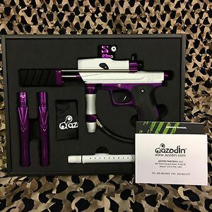 NEW-Azodin-KP3-Kaos-Pump-Tournament-Paintball-Gun-Marker-White-Purple