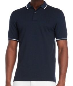 66d99641d25  85 NWT Fred Perry Twin Tipped Polo Shirt Dress Blue Oxford Sz S M L ...