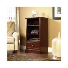 Media Tower Storage Stand Cabinet Shelf Cherry Stereo Audio Component Rack  New
