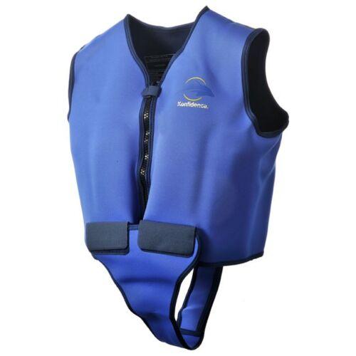 Float Jacket Konfidence Adult Swim Buoyancy Aid Safety Blue and Yellow 4 Sizes