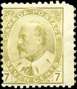 1903 Mint H Canada VG-F Scott #92 7c King Edward VII Issue Stamp