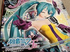 Cartel de tienda Rara Japonesa Hatsune Miku Proyecto Diva F 2nd PS3 video juego de Sega