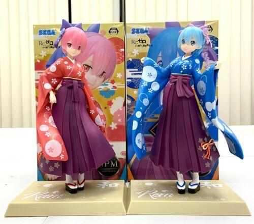 Sega Re Zero SPM Premium Figure Japanese Kimono Style Rem Ram Twin Set SG775X