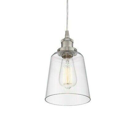 Trans Globe Lighting 8164 BN Indoor Glasswood 7 Mini Pendant Brushed Nickel