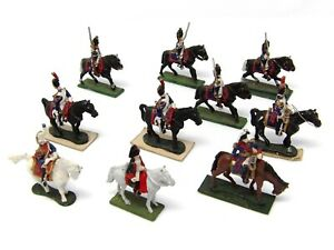 Vintage-25mm-Minifigs-Hinchliffe-PMD-Similar-French-Napoleonic-Cavalry-x-10