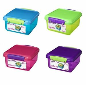 Image Is Loading Sistema 1 2l Lunch Plus Sandwich Box Bpa
