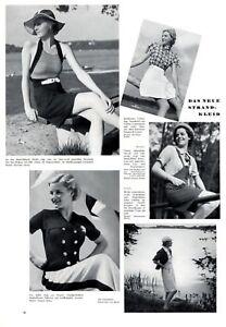 Sommermode 30er Jahre Strandmode Das Neue Strandkleid Xl Seite 1936 Mit Fotoabb Art