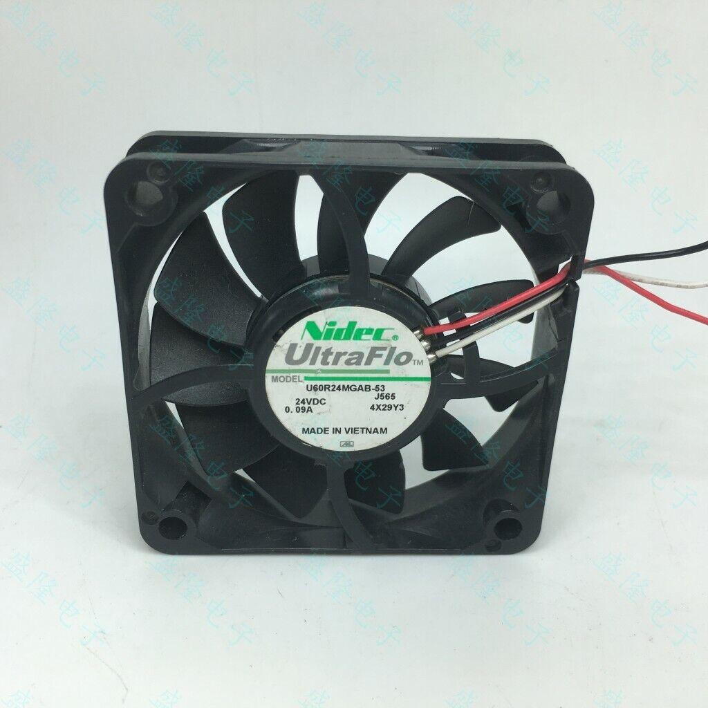 NIDEC U60R24MGAB-53 DC24V 0.09A 60x60x15mm Dual Ball Bearing Quiet Cooling Fan