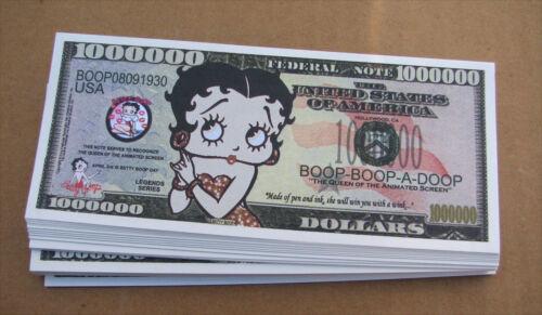 LOT OF 10 Betty Boop MONEY WHOLESALE LOT NOVELTY MILLION DOLLAR BILLS  FREE SHIP
