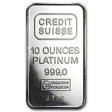 10 oz Platinum Bar - Secondary Market - SKU #8550