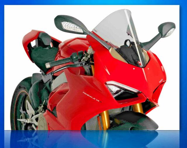 Puig Racing Windscreen Light Smoke 2018-19 Ducati PANIGALE V4S - 9690H