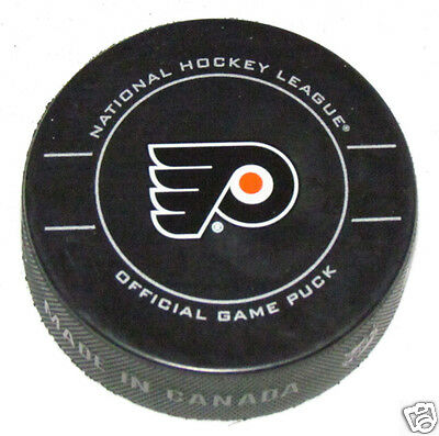 PHILADELPHIA FLYERS 2012 Playoffs OFFICIAL GAME PUCK Sher-wood Canada LOOSE