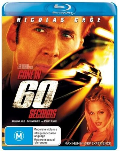 1 of 1 - Gone In 60 Seconds Blu ray - 2007 Action/Adventure Nicolas Cage  - NEW - WDS OZ