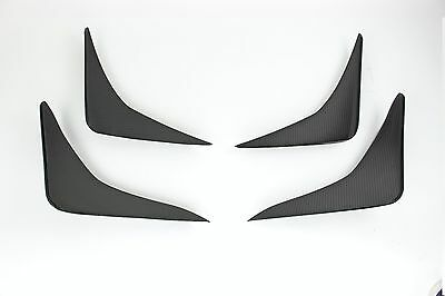 2Pics Set Carbon Fiber Fender Trim For BMW F10 M5 Canards 4-Door Sedan 2012-Up