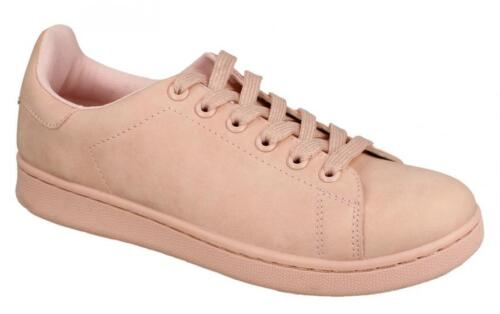 Ladies Pink Spot On Lace Up Trainers UK Sizes 3-8 F80267