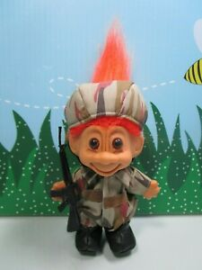 """RAMBO CAMOUFLAGE SOLDIER GI NEW IN ORIGINAL WRAPPER 5/"""" Russ Troll Doll"""