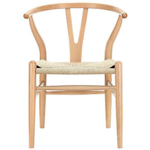 Image Is Loading Hans Wegner Wishbone Style Chair In Natural