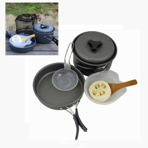 8-tlg-Aluminium-Camping-Kochset-Kochgeschirr-Set-mit-Tragetasche-ultraleicht