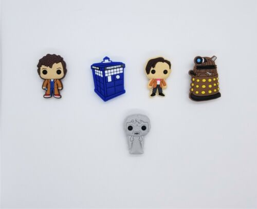 Shoe Charms Doctor Who for Crocs Clogs and Shoe Charm Wristbands Set of 5