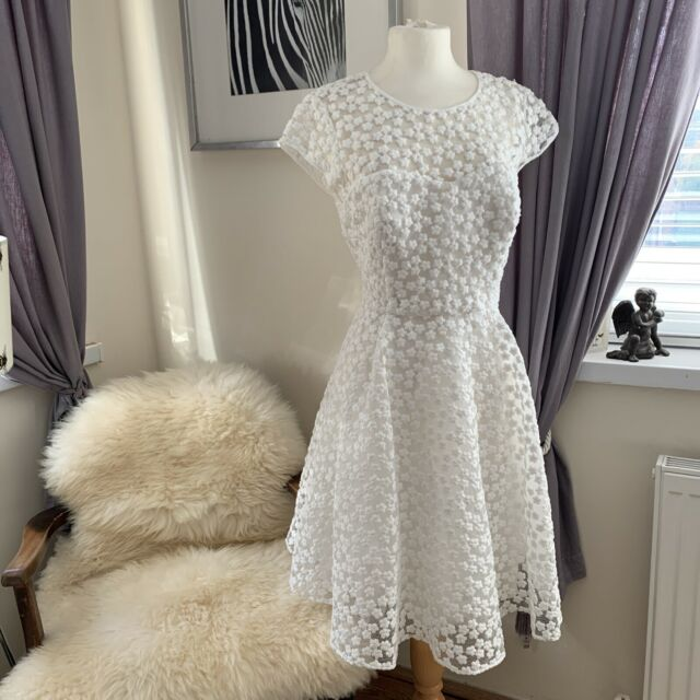 ted baker White Dress Size 4 ( UK 14)
