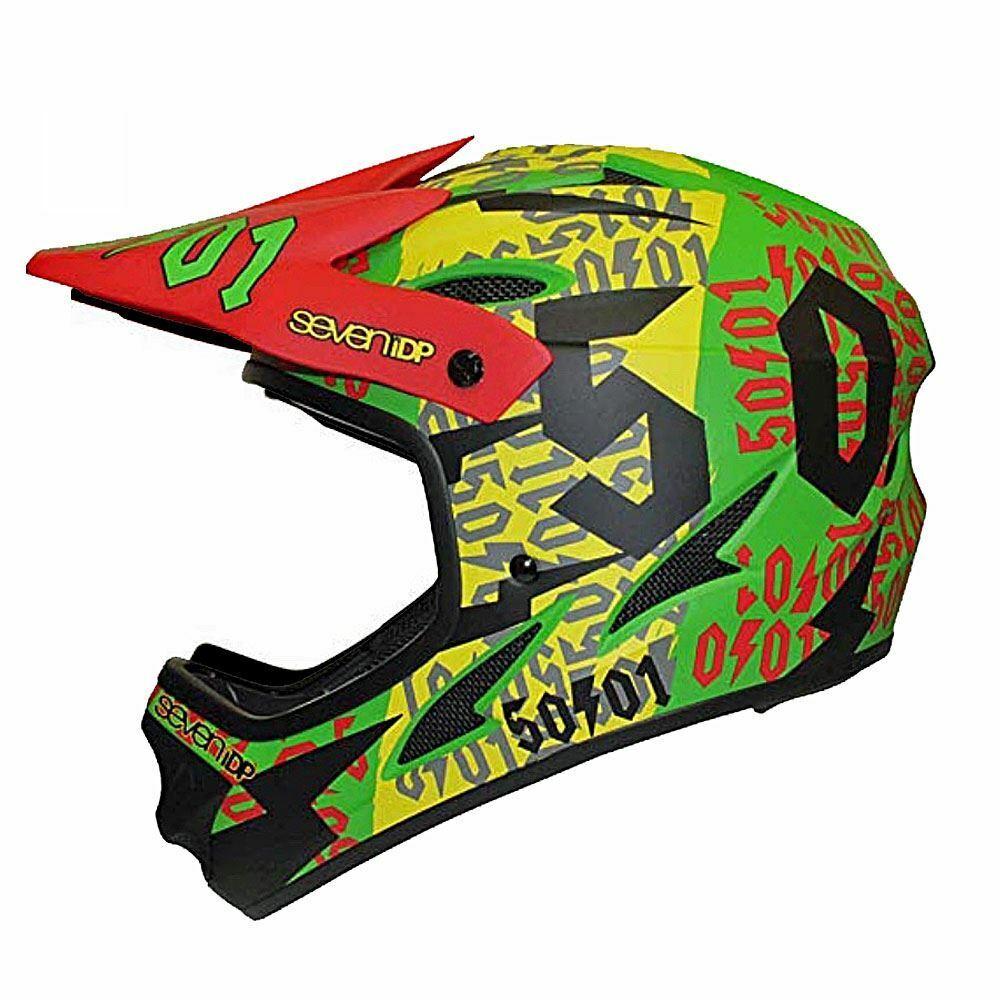 7IDP M1 Full Face MTB Down Hill Cycle Helmet  2019 - 50 01 Rasta  save on clearance