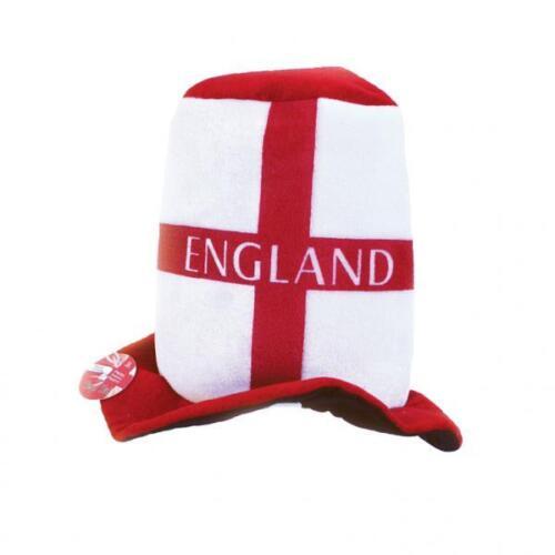 Angleterre Football Felt Top Hat St George/'s Croix rouge blanc anglais Fancy Dress