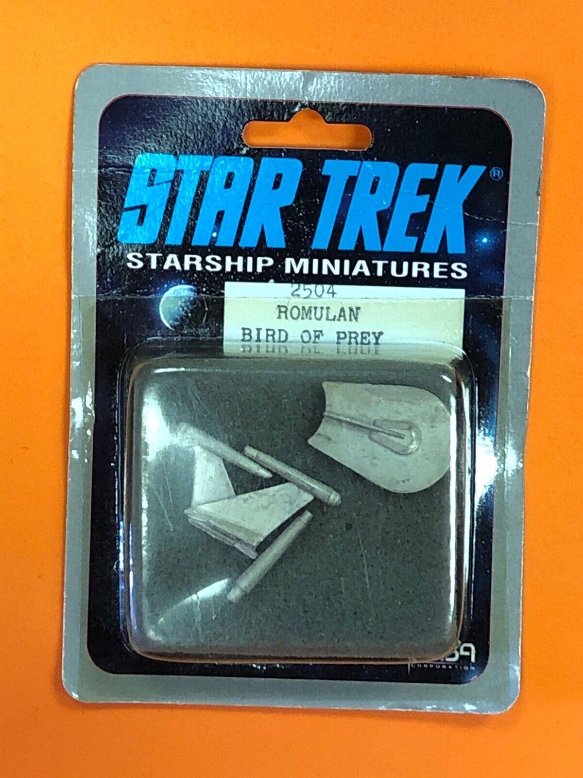 Raro 1988 Estrella Trek Nave RPG Miniatura Romulano ave rapaz  2504 Fasa