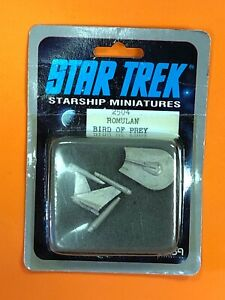 RARE-1988-STAR-TREK-Starship-RPG-Miniature-ROMULAN-BIRD-OF-PREY-2504-FASA