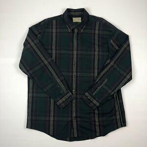 Cabelas-Outfitter-Series-Mens-Button-Down-Plaid-Flannel-Long-Sleeve-Shirt-Sz-XL