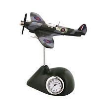 SPITFIRE Plane Miniature Desk Clock Collectable Gift 9420