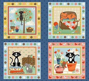crafty cats panel patchworkstoffe stoffe katzenstoffe meterware baumwolle katzen ebay. Black Bedroom Furniture Sets. Home Design Ideas
