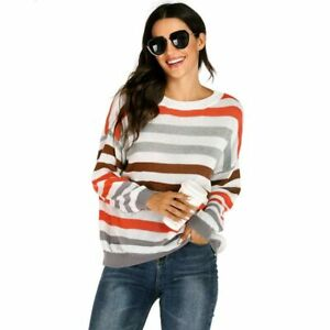 Sweater-Blouse-Casual-Knitted-Women-039-s-Tops-Knit-Shirt-Pullover-Loose-Long-Sleeve