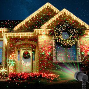 Christmas laser fairy light projection outdoor laser projector light image is loading christmas laser fairy light projection outdoor laser projector mozeypictures Gallery