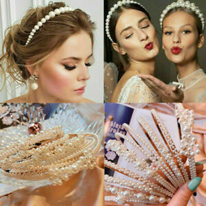 Women-Big-Pearl-Headband-Hairband-Hoops-Girls-Princess-Hair-Accessories-Wedding