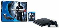 Sony PlayStation 4 Slim 500GB Uncharted 4 Console Bundle (Black)