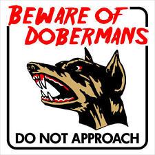 "Beware of Doberman Dog Sign Plastic Unique Sign 12""x12"""