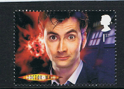 Dr Who David Tennant Illustrated on 2012 50th Anniversary Mint Stamp