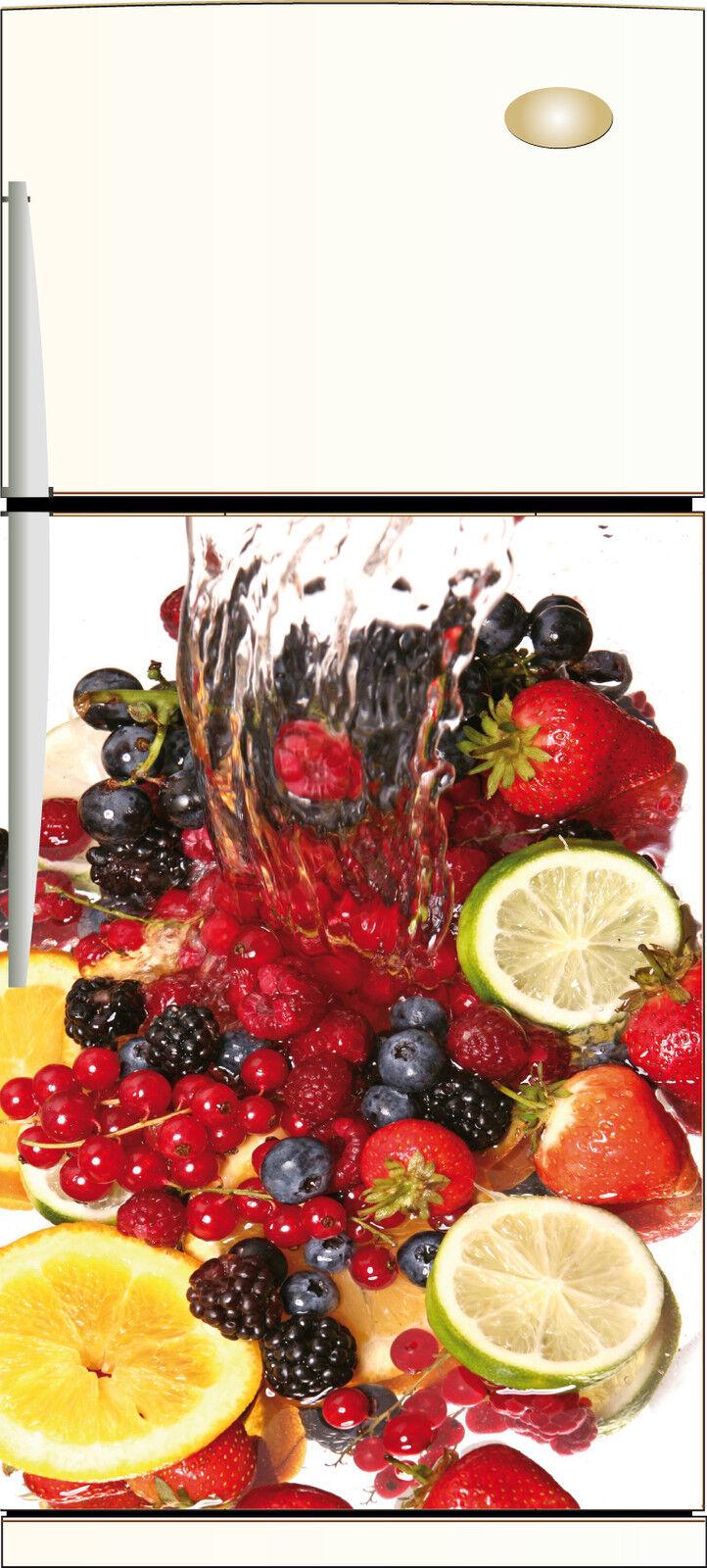 Adesivo Frigo Riposizionabile Decocrazione Cucina Fruits 60x90cm Ref 037