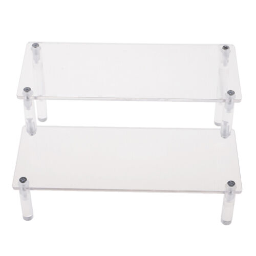 2 Step Acrylic Display Stand Holder for Die-cast Car Model Toys 20x14x10cm
