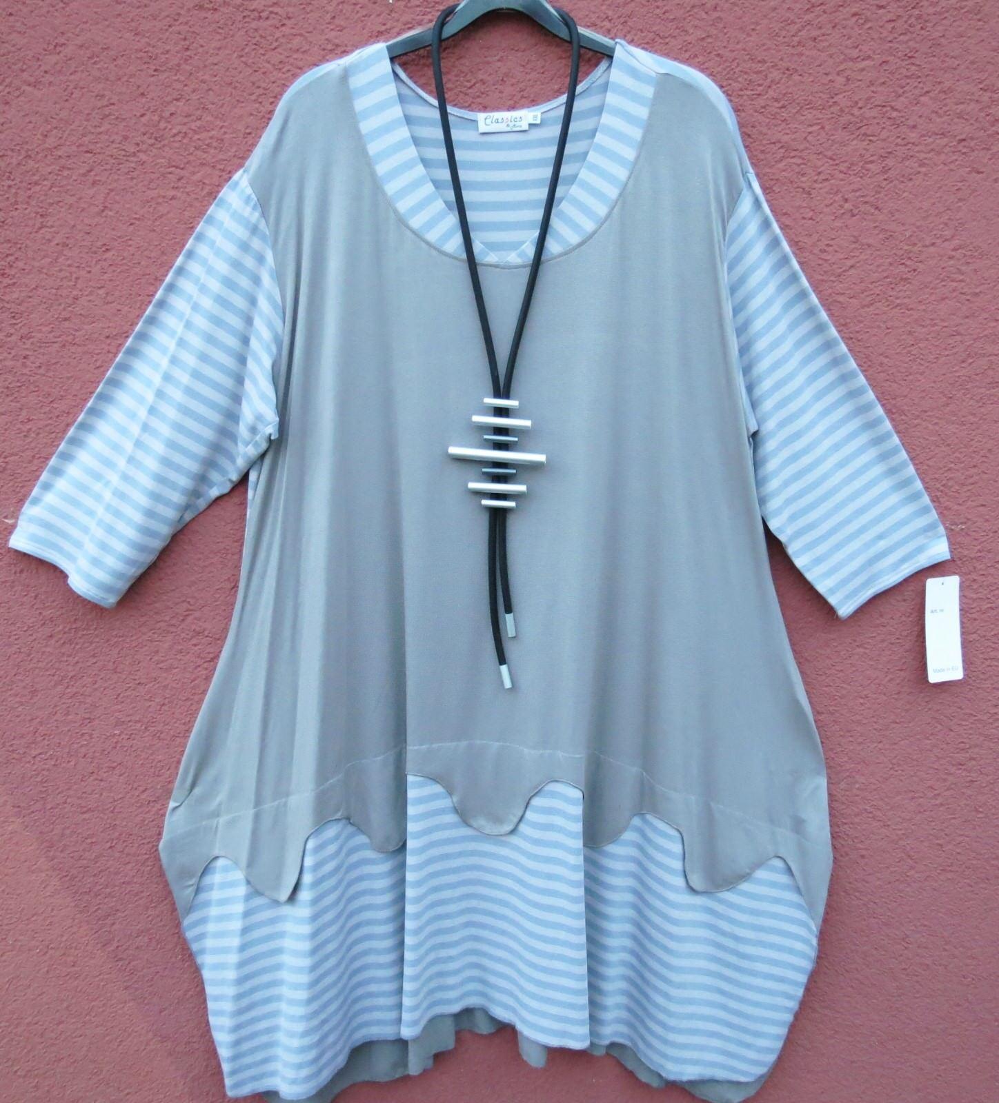 NEU Classics & More Ballonkeid Kleid Robe Dress Vestito XXL 52 54 Lagenlook