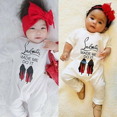 Newborn Kids Baby Boy Girl Fall Clothes Romper Jumpsuit Bodysuit Outfit Playsuit