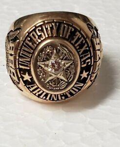 1976 University Texas Arlington UTA Mans 10k Class ring