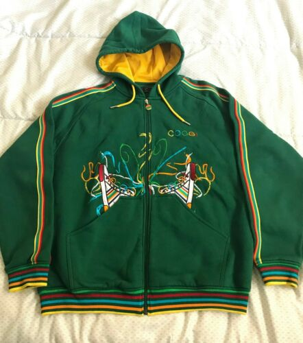 Coogi Rainbow Shoes Vintage zip up hoodie