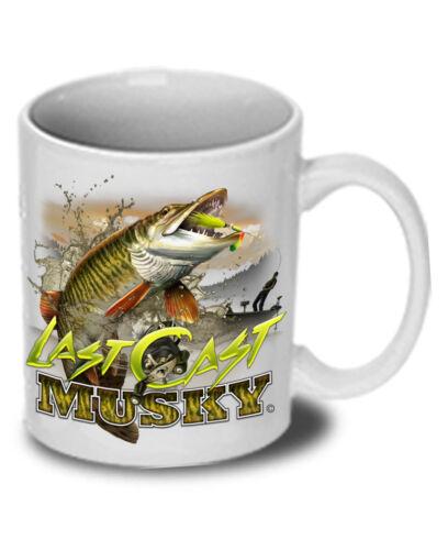 "Musky ""Last Cast"" Ceramic Mug"