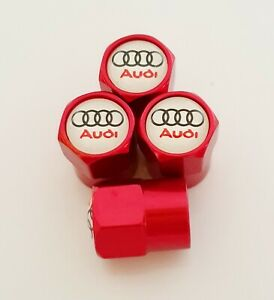 AUDI metal Wheel Valve Dust caps all models Red 5 Colors S ...