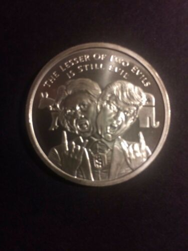 2017 Lesser Evil   Silver Shield Coin Min Mintage BU COA 1 1 OZ
