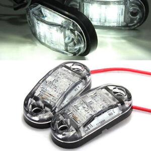 12V-2-LED-Front-Side-Marker-Light-Position-Truck-Trailers-side-lights-Durable